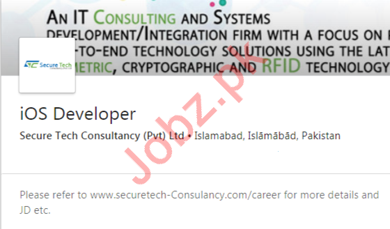 iOS Developer Job 2020 in Islamabad