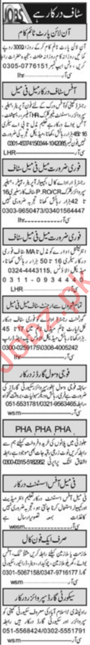 Daily Khabrain Management Staff Jobs 2020 in Islamabad