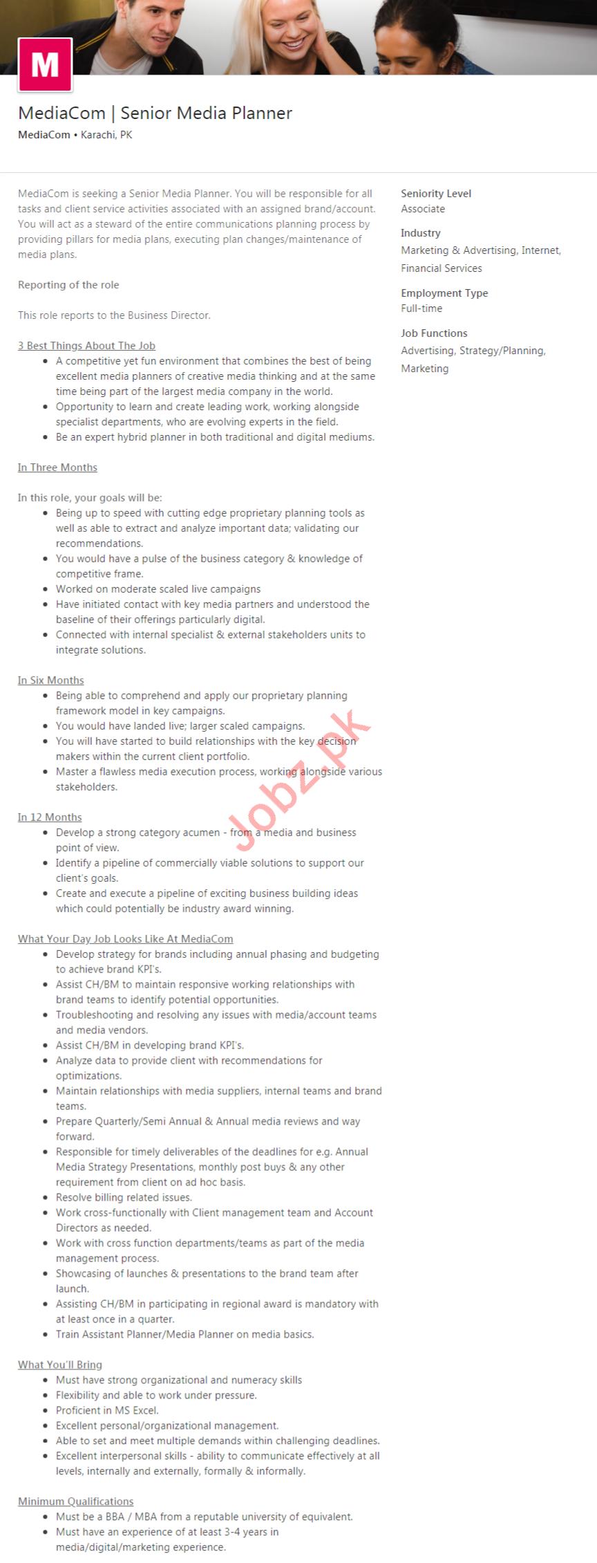 Mediacom Cable Television Company Job 2020 in Karachi