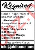 Online Supermarket Jobs 2020 in Karachi