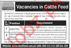 Big Feed Pvt Limited Jobs 2020 For Sales Staff