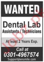 Dental Lab Jobs in Lahore 2020