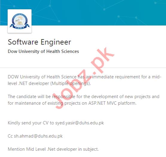 Dow University of Health Sciences Karachi Jobs 2020