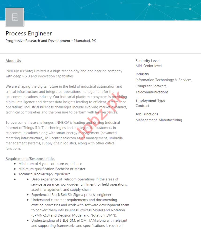 Progressive Research & Development Islamabad Jobs 2020