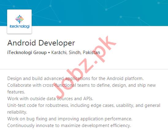 iTecknologi Group Karachi Jobs 2020 for Android Developer