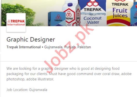 Trepak International Gujranwala Jobs 2020 Graphic Designer