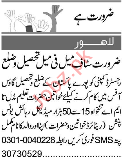 Sales & Marketing Staff Jobs 2020 in Lahore