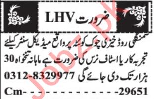 Staff Nurse & LHV Jobs 2020 in Quetta