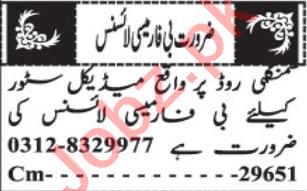 Pharmacist Jobs Open in Quetta