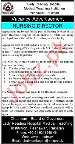 MTI Medical Teaching Institution LRH Peshawar Jobs 2020