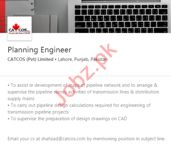 CATCOS Lahore Jobs 2020 for Planning Engineer