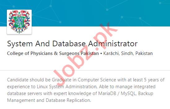 College of Physicians & Surgeons Pakistan CPSP Karachi Jobs