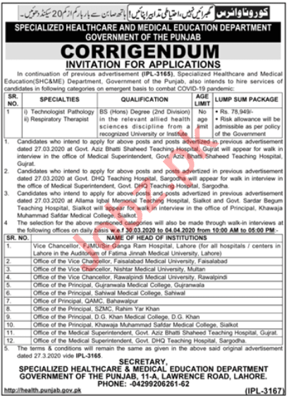 Specialized Healthcare & Medical Education Department Jobs