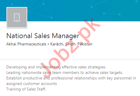 Akhai Pharmaceuticals Jobs 2020 National Sales Manager