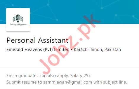 Emerald Heavens Karachi Jobs 2020 for Personal Assistant