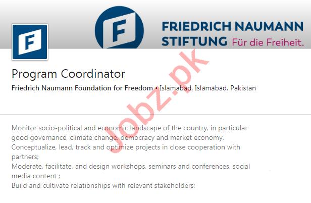 Friedrich Naumann Foundation for Freedom Islamabad Jobs 2020
