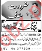 Teaching Staff Jobs Career Opportunity in Peshawar