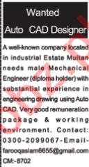 AutoCAD Designer & Mechanical Engineer Jobs 2020