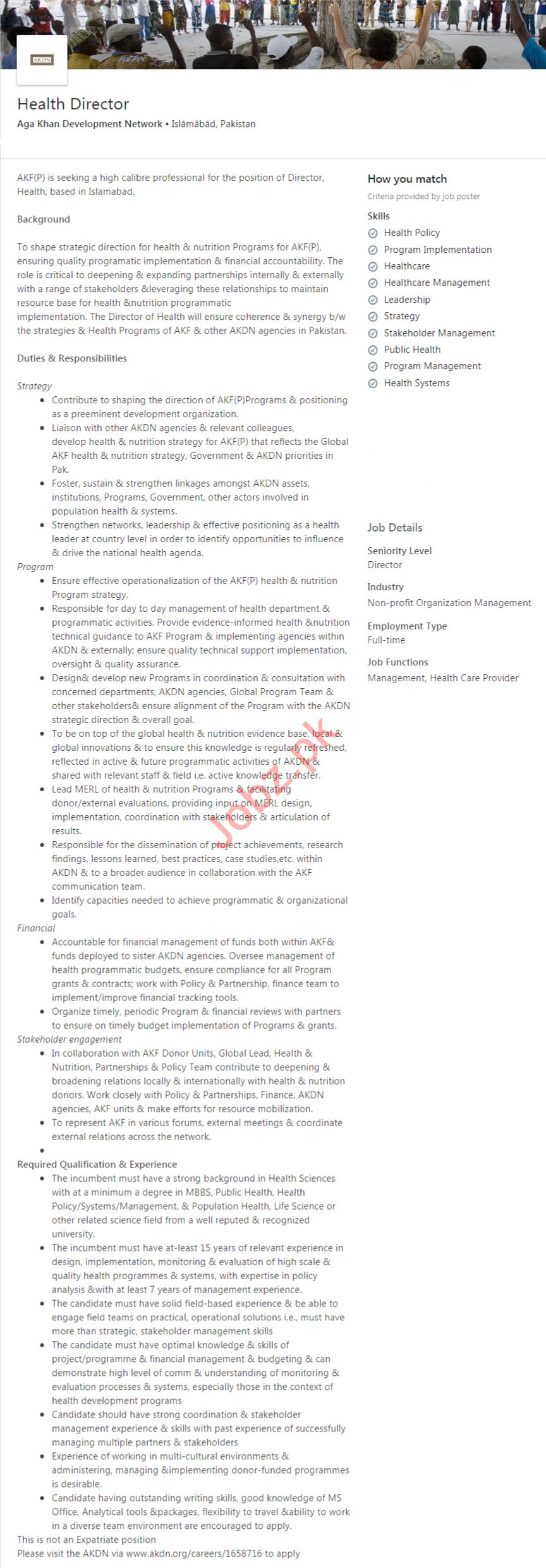 Aga Khan Development Network Islamabad Jobs 2020