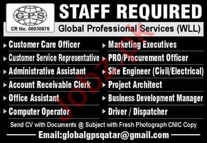 Global Professional Services WLL Management Staff Jobs 2020