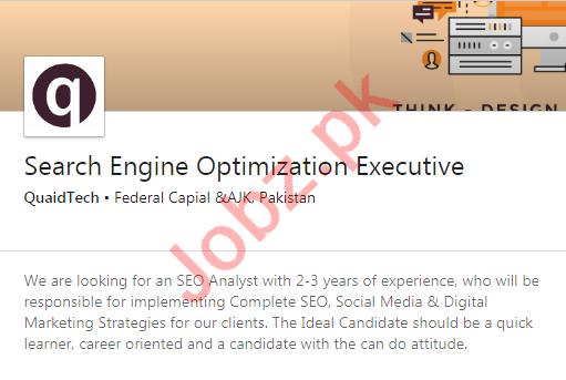 QuaidTech Rawalpindi Jobs 2020 for SEO Executive