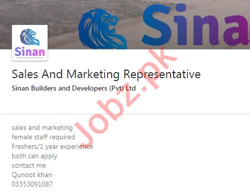 Sinan builders & Developers Jobs for Sales Representative