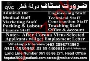 Admin Staff & Engineer Staff Jobs 2020 in Islamabad