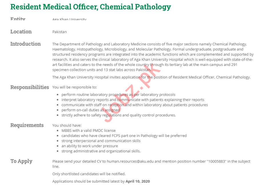 Resident Medical Officer Jobs Aga Khan University Hospital