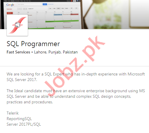 Fast Services Lahore Jobs 2020 for SQL Programmer
