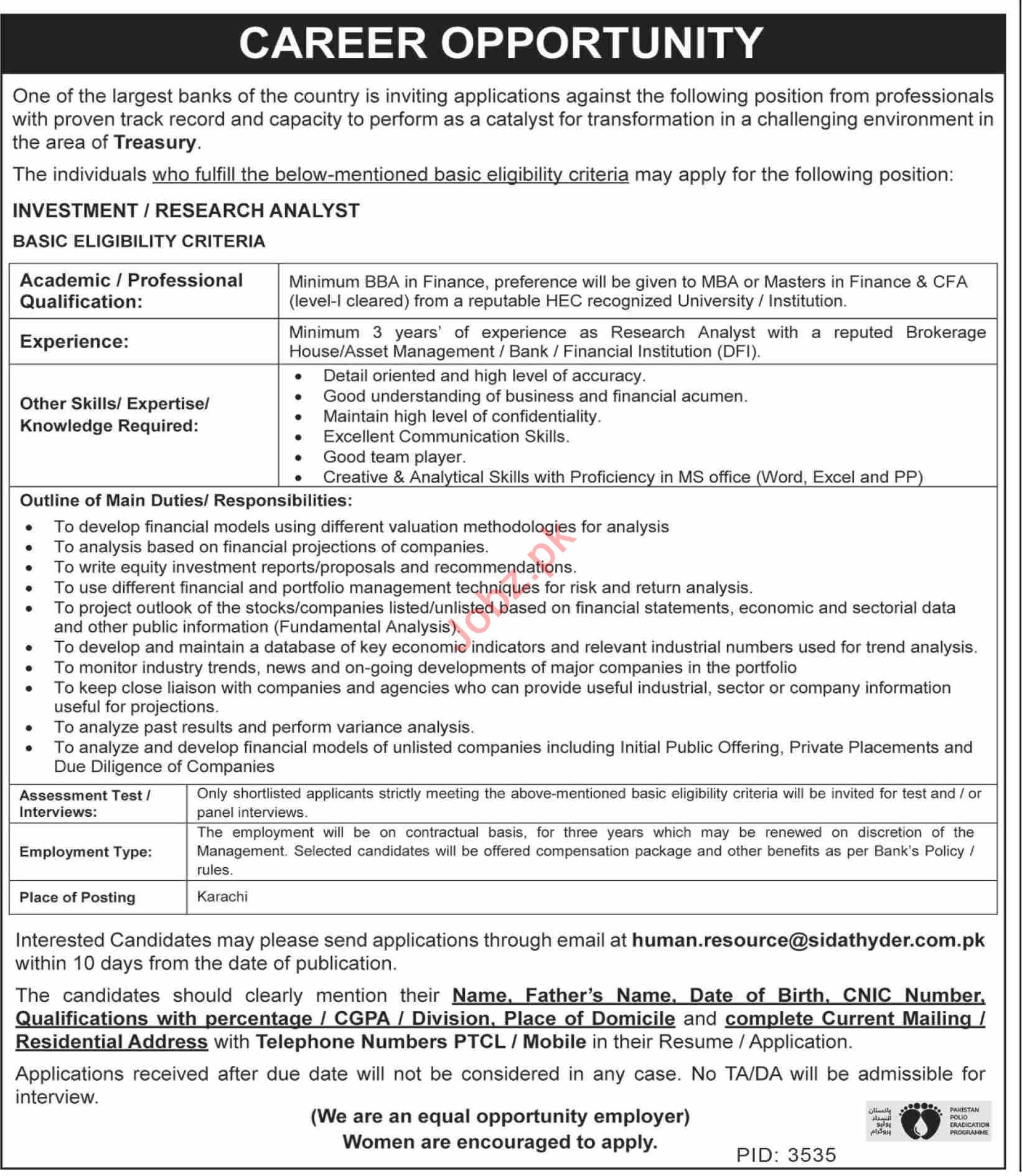 Research Analyst & Investment Analyst Jobs 2020