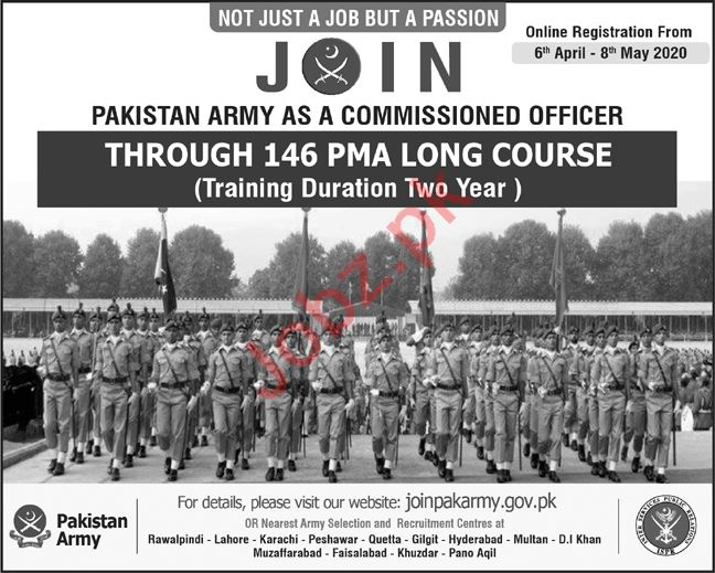Pak Army Join as Commissioned Officer Through 146 PMA