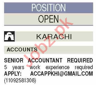 Dawn Sunday Classified Ads 5th April 2020 for Accounts