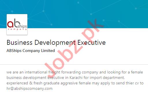 ABShips Company Limited Karachi Jobs 2020 Business Executive