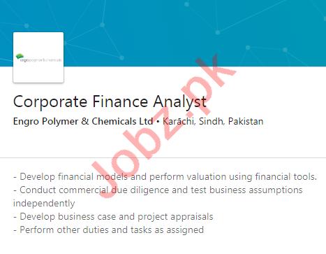 Engro Polymer & Chemicals Karachi Jobs 2020 Finance Analyst