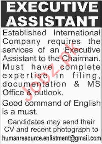 Executive Assistant Jobs 2020 in Karachi