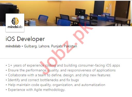 mindslab Lahore Jobs 2020 for iOS Developer