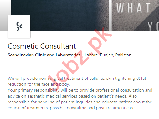 Scandinavian Clinic & Laboratories Jobs 2020 for Consultant