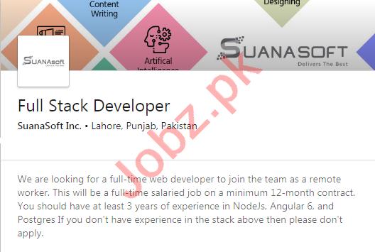 SuanaSoft International Jobs 2020 Full Stack Developer