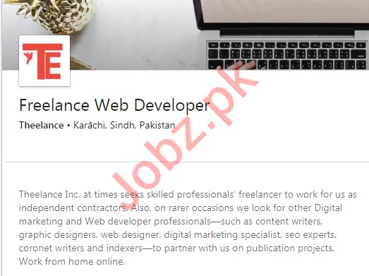 Theelance Karachi Jobs 2020 Freelance Web Developer