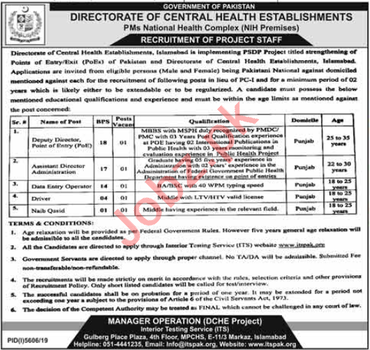 PMs National Health Complex Islamabad Jobs 2020