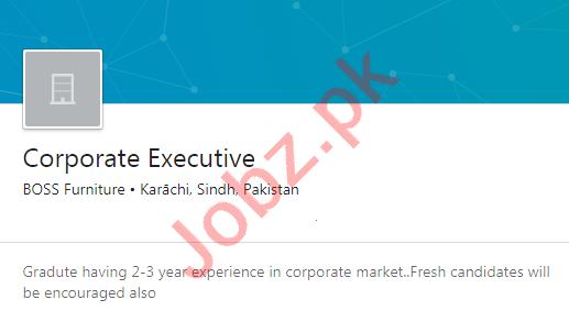 BOSS Furniture Karachi Jobs 2020 for Corporate Executive