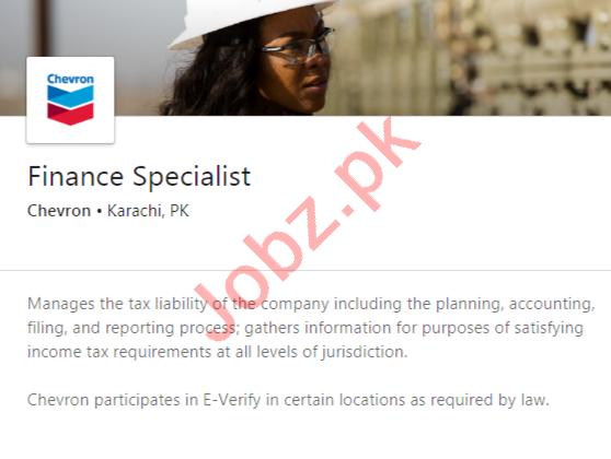 Chevron Pakistan Lubricants Karachi Jobs Finance Specialist