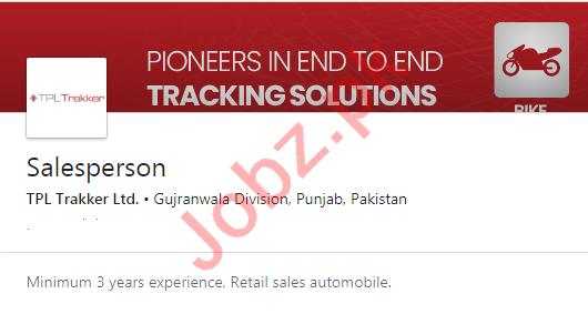 TPL Trakker Gujranwala Jobs 2020 for Salesperson