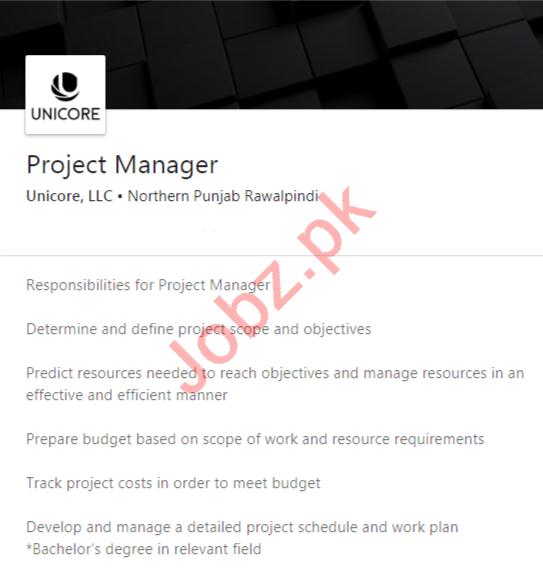 Unicore Retails International Pakistan Jobs 2020 for Manager