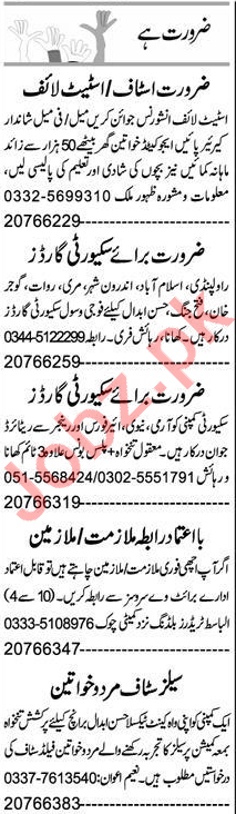 Male & Female Staff Jobs 2020 Career Opportunity