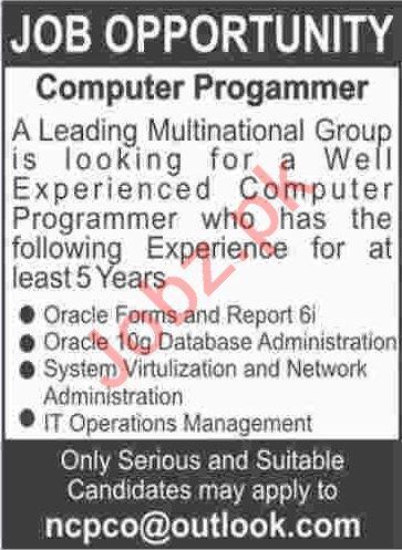 Computer Programmer Jobs 2020 in Karachi