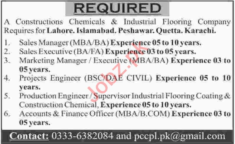 Sales Manager & Sales Executive Jobs 2020 in Islamabad