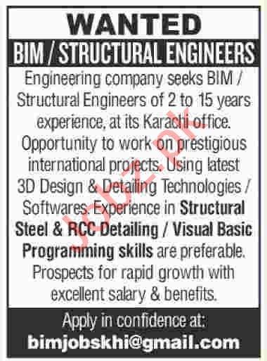 Structural Engineer & BIM Engineer Jobs 2020