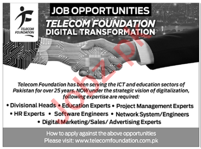 Telecom Foundation Digital Transformation Islamabad Jobs