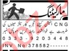 CNG Station Peshawar Jobs Career Opportunity 2020